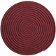Solid Colored Braided Chair Pads, Navy Blue