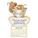 Friendship Mice Mini Magnetic Calendar, One Size, Multicolor
