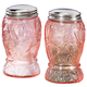 Pink Depression Style Glass Salt and Pepper Shakers