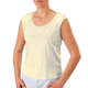 Camisole with Shoulder Pads, Small, Beige