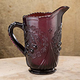 Amethyst Depression Style Glass Pitcher