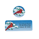 Snowy Cardinal Label and Seal Set, One Size