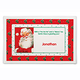 Personalized Santa Placemat