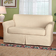 Faux Suede Loveseat Slipcover