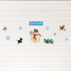 Let it Snow Garage Door Magnets - Set Of 11, One Size