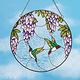 Lilac & Hummingbird Suncatcher