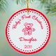 Personalized Baby's First Christmas Porcelain Ornament