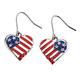 Patriotic Heart Earrings