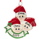 Personalized Santa Hat Kids Ornament, One Size