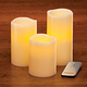 LED Flicker Candles - Set Of 3