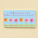 Personalized 4x8 I Smile Because We're Sisters Wood Wall Pla