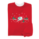 Sledding Snowman Sweatshirt M-XL, One Size