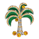 Palm Tree Brooch, One Size