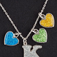 Birthstone Glitter Heart Charm