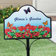 Personalized Geranium Magnetic Yard Sign