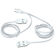 Double Ended Extension Cord, One Size, White