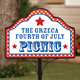 Personalized Magnetic Summer Picnic Yard Sign