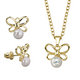Pearl Butterfly Earrings & Necklace Set