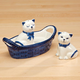 Kitten Salt and Pepper Shakers in Basket, One Size