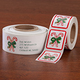 Candy Cane Labels and Envelope Seals - Sets of 250