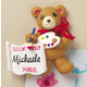 Personalized Childrens Teddy Bear Magnet