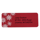 Large Print Red Snowflake Address Labels - Set Of 250, One Size