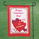 Personalized Valentines Day Garden Flag