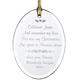 Personalized Christmas In Heaven Glass Ornament, One Size