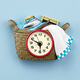 Laundry Basket Clock