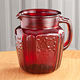 Red Depression Style Glass Pitcher