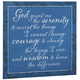 12X12 Serenity Prayer Metal Wall Plaque