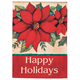 Poinsettia Garden Flag, Red