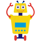 Personalized Yellow Robot Dcor Cling