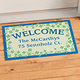 Personalized Shamrocks Doormat