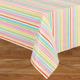 Pastel Easter Stripe Vinyl Table Cover
