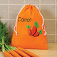 Carrot Polyester Drawstring Bag
