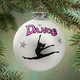 Personalized Frosted Glass Dance Ornament
