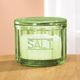 Avocado Depression Style Glass Salt Cellar