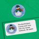 Country Snowman Label & Seals
