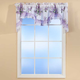 Lilac Bouquet Ruffled Quilted Valance