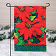 Holiday Poinsettia Garden Flag