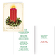Satin Candle Christmas Card Set of 20