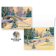 Snowy Footbridge Non-Personalized Card Set of 20, One Size