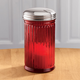 Red Glass Sugar Dispenser