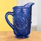 Cobalt Blue Depression Style Glass Pitcher