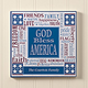 Personalized God Bless America Wall Plaque 8 x 8