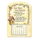 Mini Magnetic God Bless Birdhouse Calendar