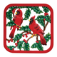 Winter Cardinals Cast Iron Trivet