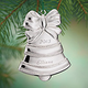 Personalized Silvertone Bell Ornament