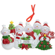 Personalized Snow Family Ornaments